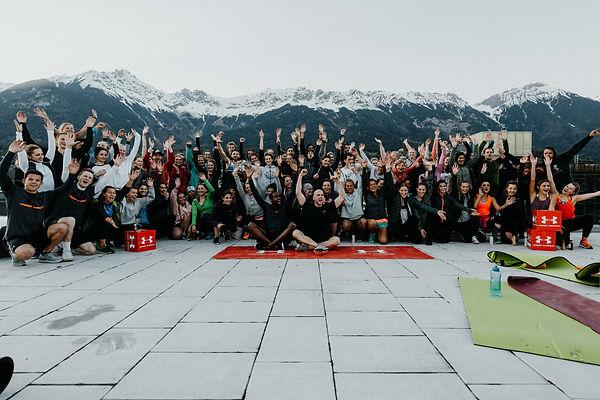 Rooftop Session Kaufhaus Tyrol Sunset Session Das Training Innsbruck