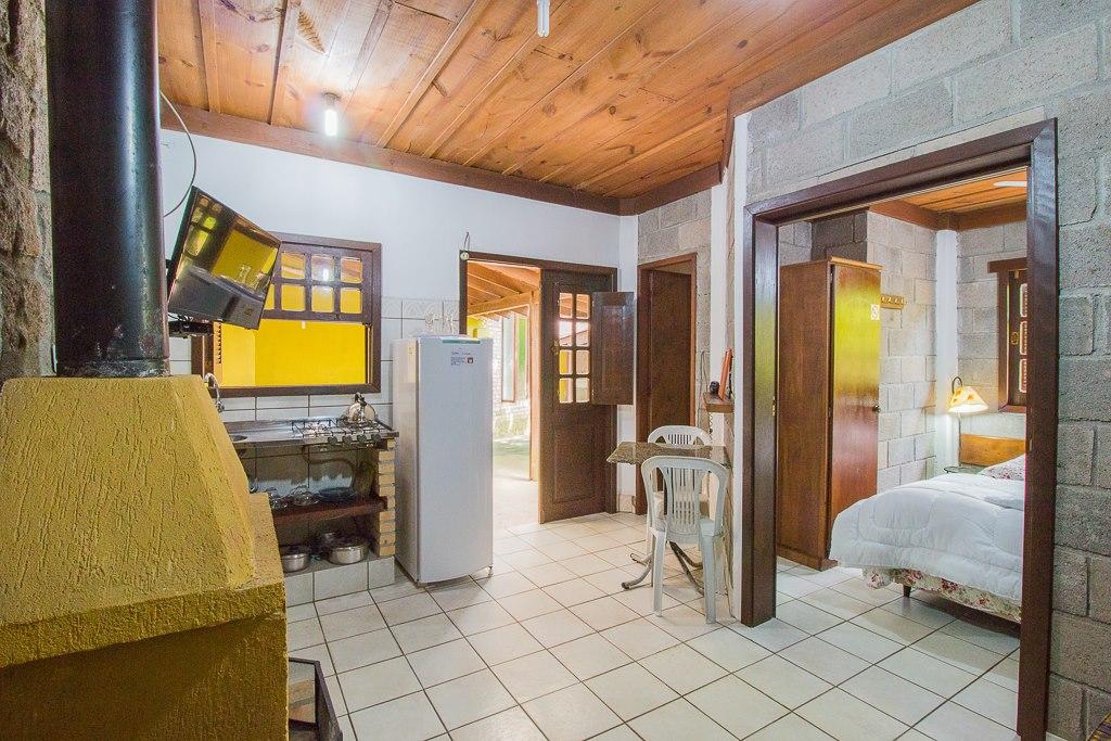 Sala e cozinha conjugadas