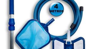 Kit de Limpeza para piscina - Compatível com piscinas de alvenaria, fibra e vinil