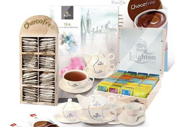 Kit 160 filtri di thè e 80 bustine di cioccolata senza zuccheri gusti assortiti