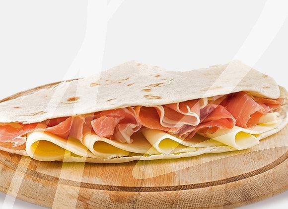 Piadina prosciutto crudo e mozzarella - 6 pz.