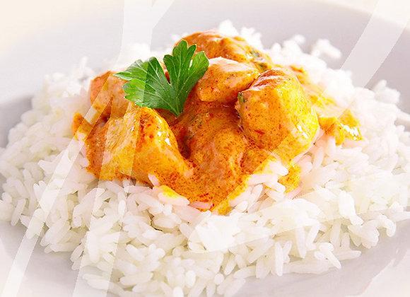 Pollo al curry e riso con verdure monoporzione - 4 pz.