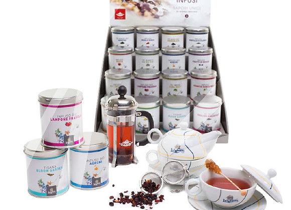 Kit promozione 50 lattine di tè infusi in foglia assortiti