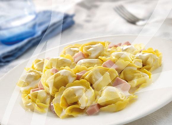 Tortellini panna e prosciutto monoporzione - 6 pz.