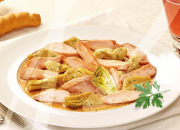 Tagliata di petto di pollo ai carciofi monoporzione - 6 pz.