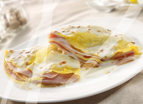 Crespelle formaggio e prosciutto monoporzione - 6 pz.