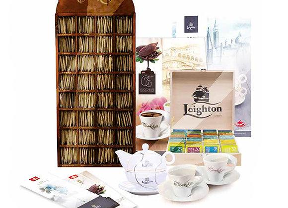 Kit promozione 160 filtri di tè e 320 bustine di cioccolata gusti assortiti