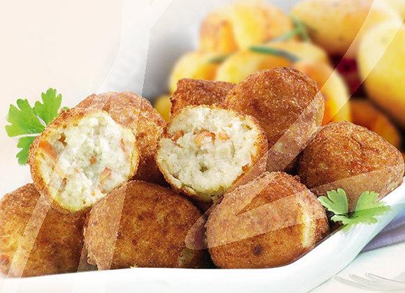 Polpette di merluzzo con patate monoporzione - 4 pz.