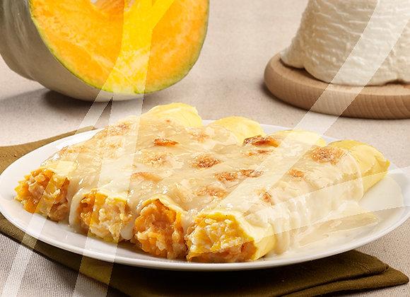 Cannelloni alla zucca e formaggio di montagna monoporzione - 6 pz.