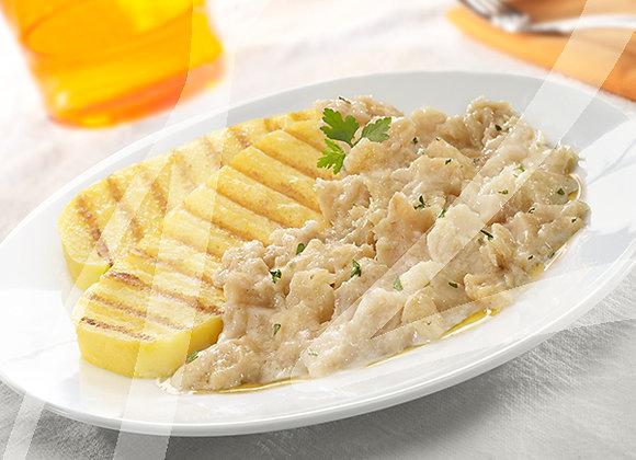 Baccala' con polenta monoporzione - 6 pz.