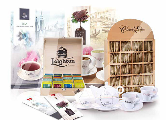 Kit promozione 160 filtri di tè e 200 bustine di cioccolata gusti assortiti