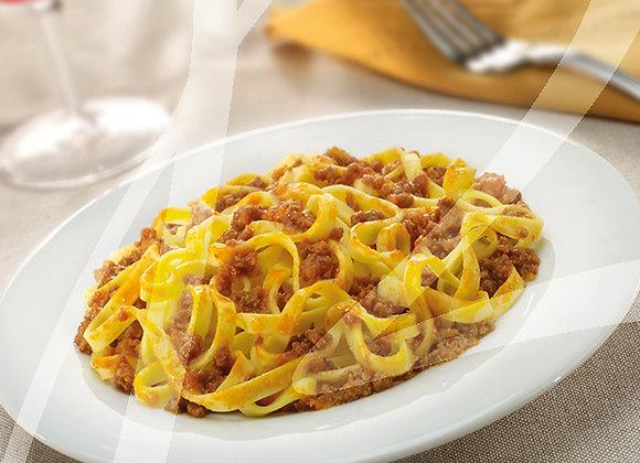 Fettuccine al ragù di carne monoporzione - 4 pz.
