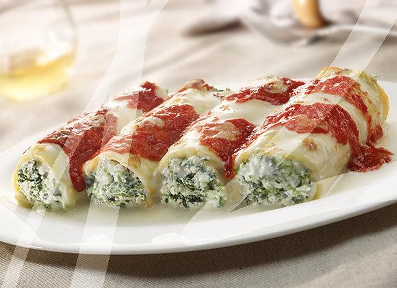 Cannelloni ricotta e spinaci monoporzione - 6 pz.