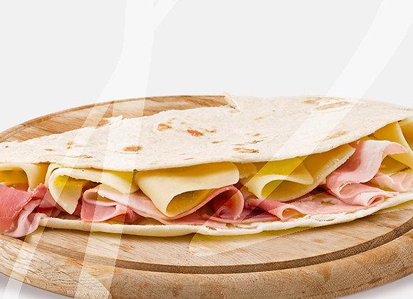 Piadina prosciutto cotto e mozzarella - 6 pz.