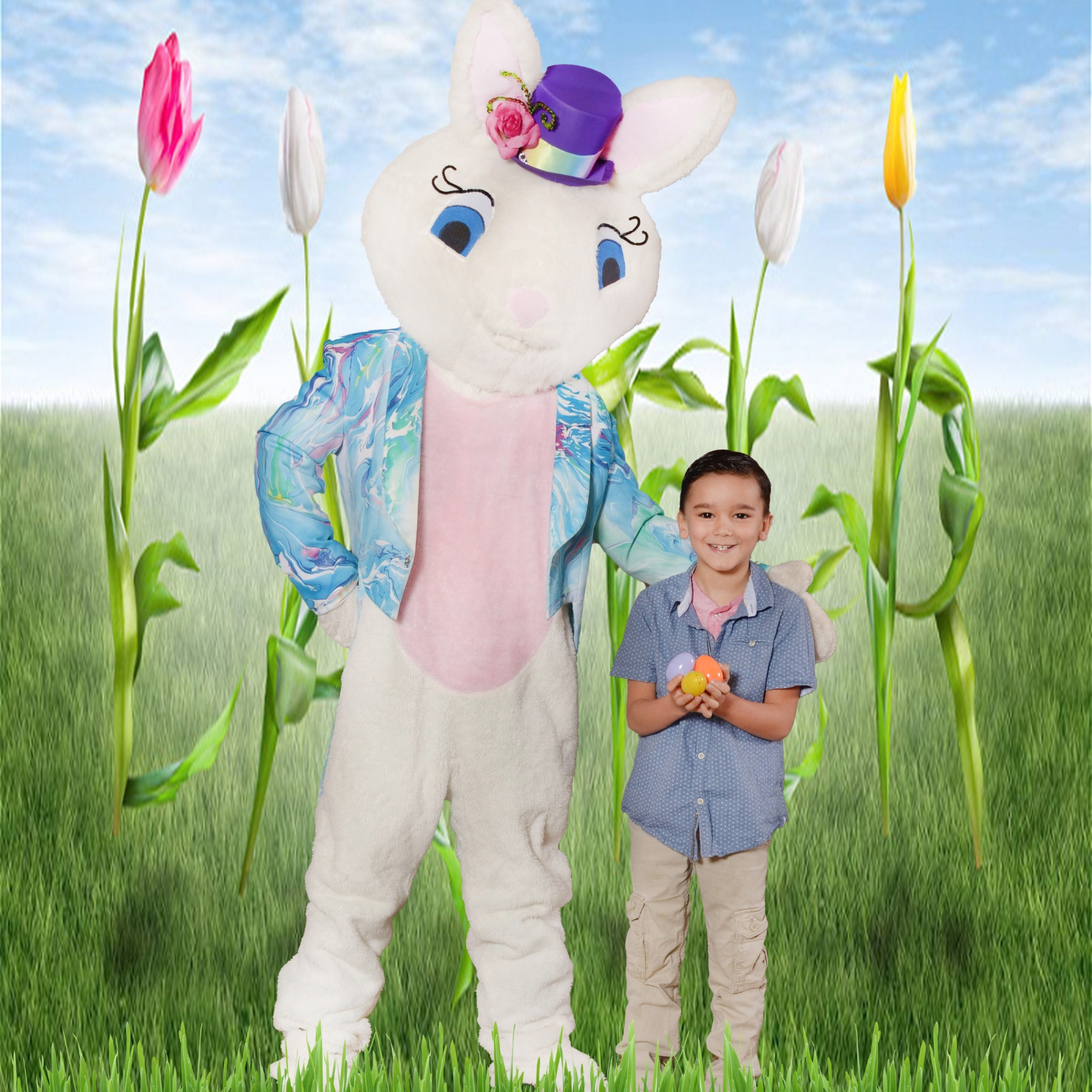 Family Photos with the Easter Bunny
