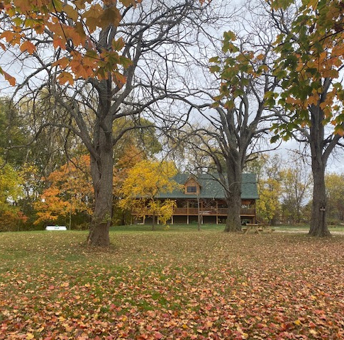 Lodge with Fall Leaves