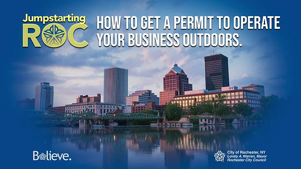 This video explains how to get a permit to operate your business outdoors as part of the Flower City Sidewalks initiative.