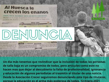 DENUNCIA ( Titular de Prensa )