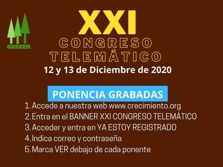 XXI Congreso Telemático ( Ponencias GRABADAS )