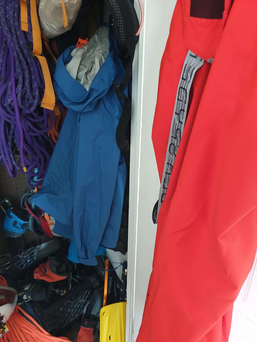 Spyder ski pants and a shell