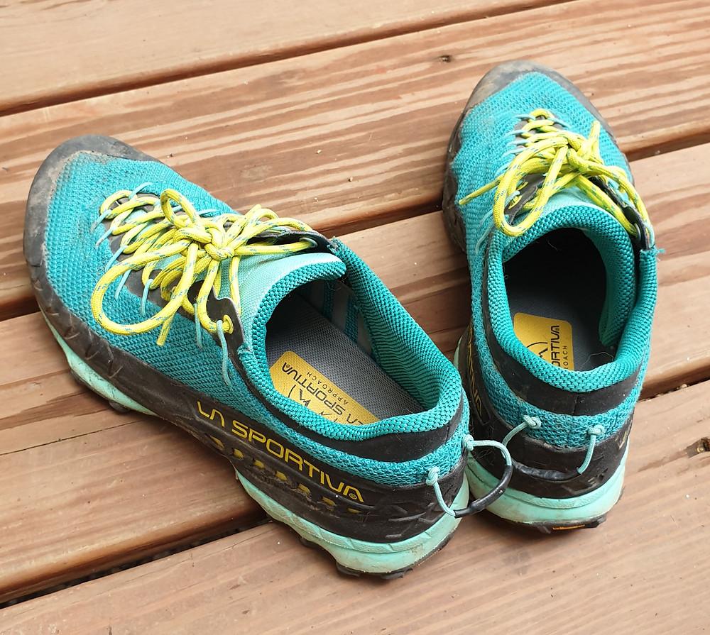 Woman's La Sportiva Approach shoes.