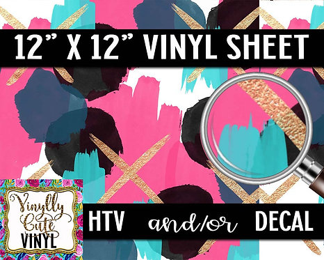 Abstract X Vinyl ~ HTV or ADHESIVE DECAL
