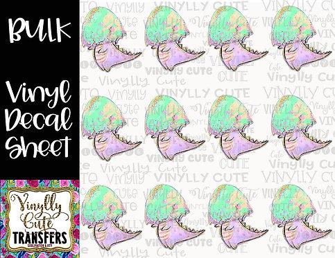 BULK ~ Dino Egg Head ~ Vinyl Decal Sticker Sheet ~ Dinosaur Baby