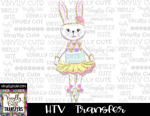 Bunny Ballerina ~ HTV Transfer