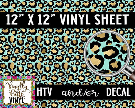 Turquoise Vinyl ~ HTV or ADHESIVE DECAL