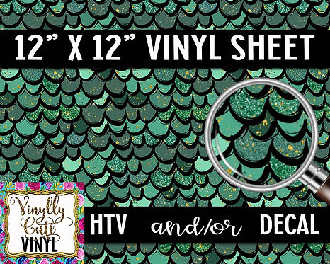 Green Scales Vinyl ~ HTV or ADHESIVE DECAL