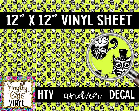 Skeleton Critter Vinyl ~ HTV or ADHESIVE DECAL