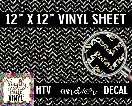 Leopard Chevron Vinyl ~ HTV or ADHESIVE DECAL