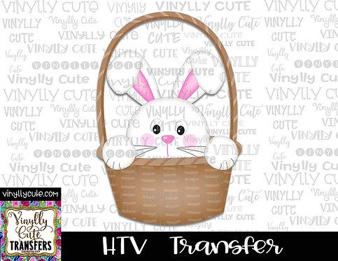 Easter Bunny In Basket ~ HTV Transfer