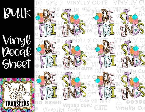 BULK ~ Best Friends Set ~ Vinyl Decal Sticker Sheet