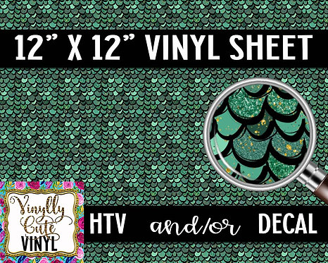 Green Scales (Small) Vinyl ~ HTV or ADHESIVE DECAL