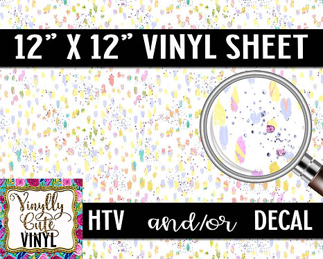 Pastel Smudges ~ HTV or ADHESIVE DECAL