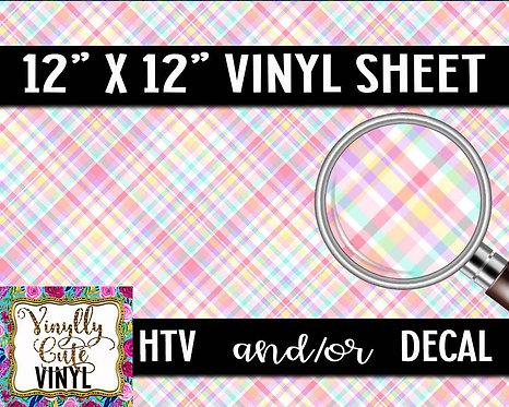 Pastel Plaid Vinyl ~ HTV or ADHESIVE DECAL