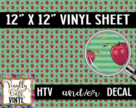 Apple For The Teacher ~ HTV or ADHESIVE DECAL
