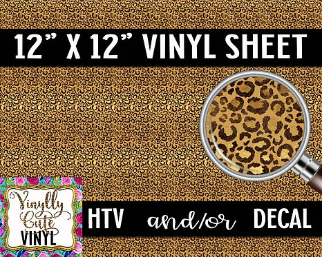 Golden Leopard Small Scale ~ HTV or ADHESIVE DECAL