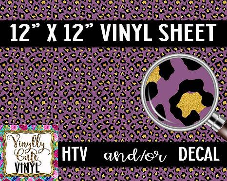 Plum Leopard Vinyl ~ HTV or ADHESIVE DECAL
