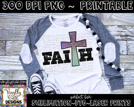 DIGITAL - Faith Cross - Rustic Purple