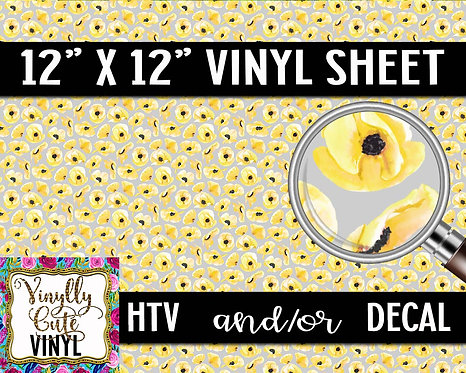 Yellow Poppy ~ HTV or ADHESIVE DECAL