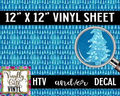 Blue Christmas ~ HTV or ADHESIVE DECAL