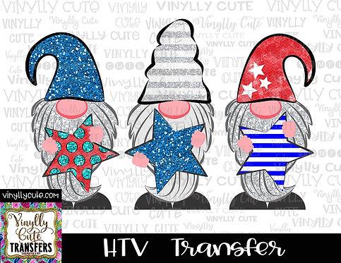 Patriotic Gnomes ~ HTV Transfer ~ July 4th