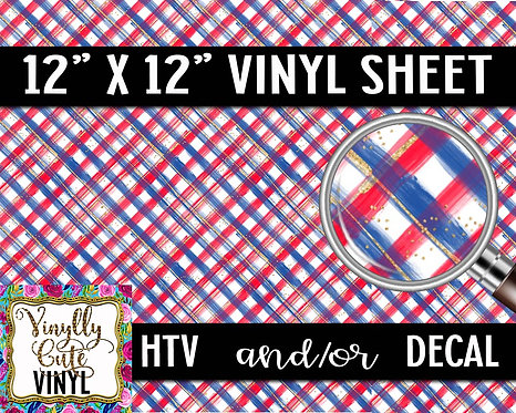 American Plaid ~ HTV or ADHESIVE DECAL