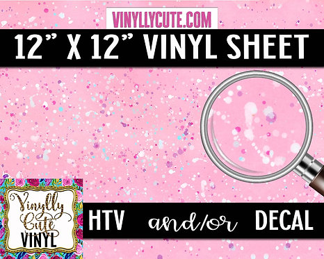 Pink Splatter ~ HTV or ADHESIVE DECAL VINYL