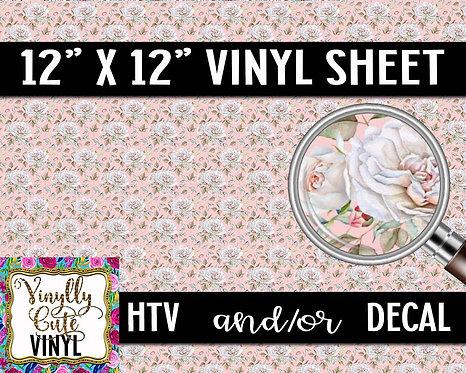 White Rose Vinyl ~ HTV or ADHESIVE DECAL