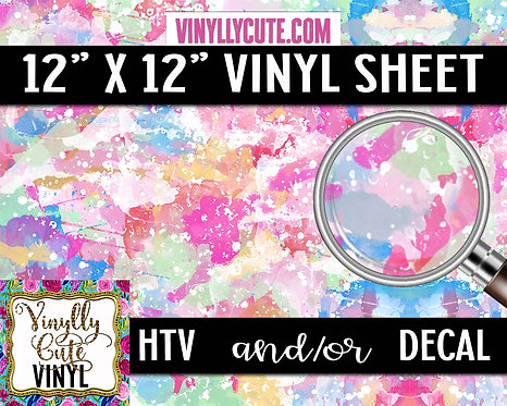 Watercolor Splashes ~ HTV or ADHESIVE DECAL VINYL