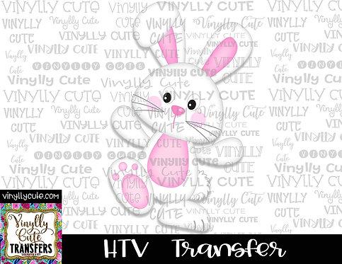 White Easter Bunny ~ HTV Transfer
