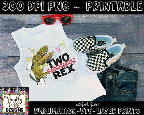 DIGITAL - Boy Two Rannosaurus Rex
